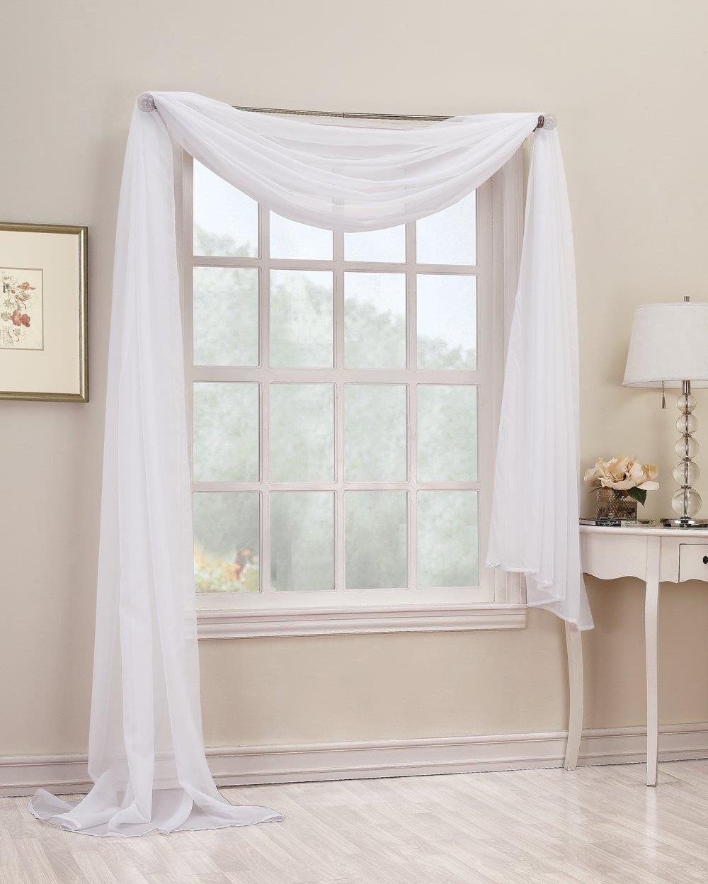 emily sheer voile scarf valance