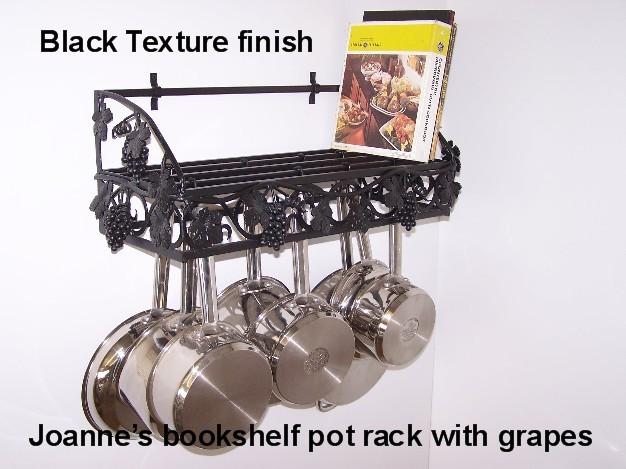 grapevine bookshelf wall pot rack made in usa in lamar mo