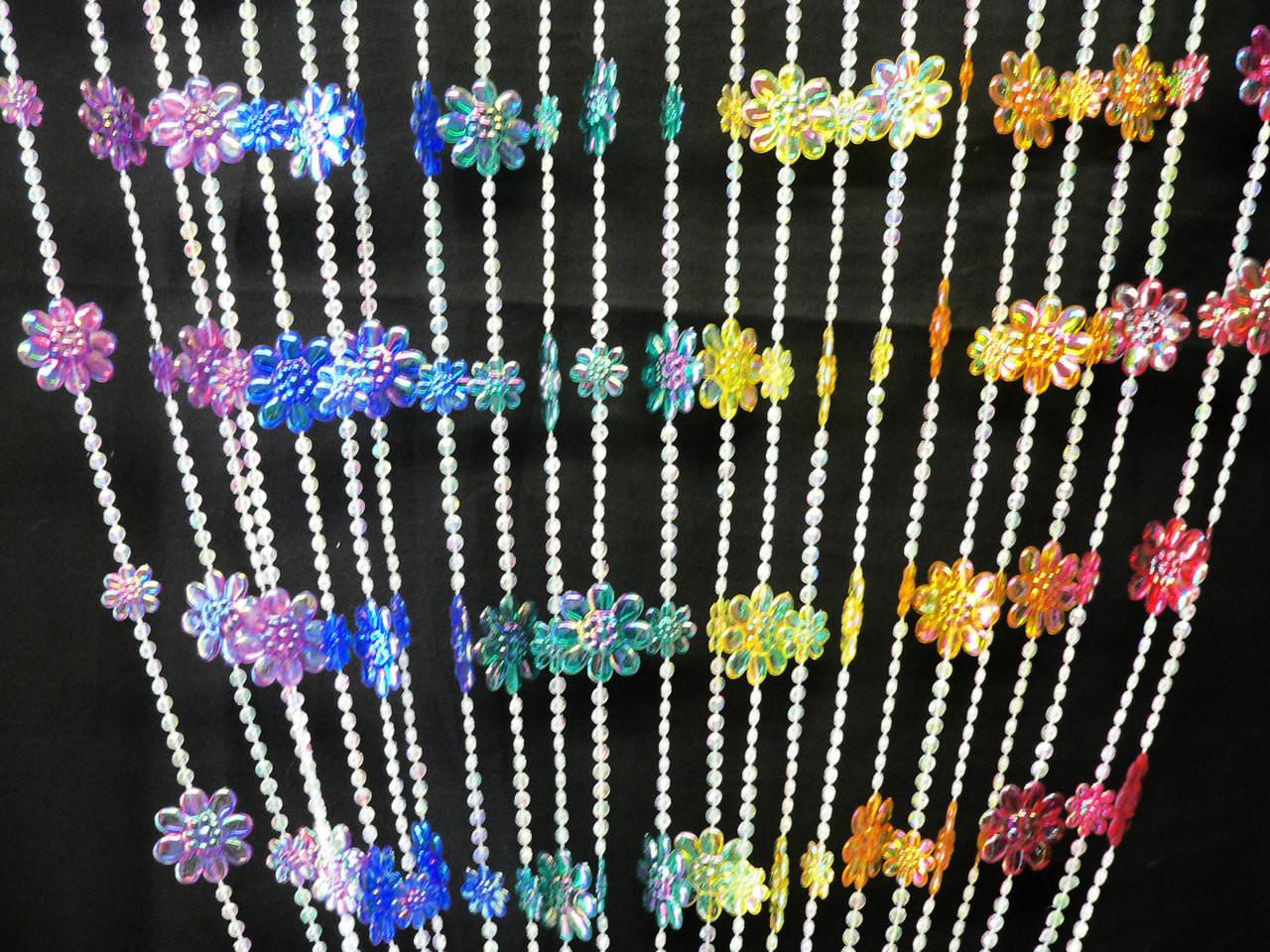 rainbow daisies beaded curtains 3