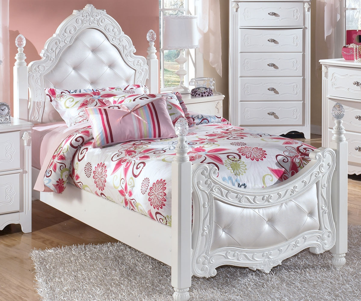 exquisite twin size poster bed ashley furniture asb188 71