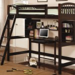 Coaster Furniture Ethan Workstation Loft Bed Kids Study Loft Bed With Desk Ethan Study Loft Bed With Desk In In Cappuccino Finish At Kids Furniture Warehouse