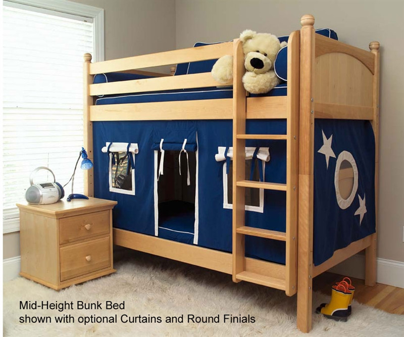 Maxtrix Kids Medium Bunk Bed With Optional Curtains Get It Matrix Bunk Bed For Kids Maxtrix Kids Beds By Kids Furniture Warehouse
