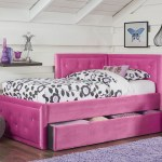 Avery Corner Bed With Trundle In Upholstered Pink 98250 Standard Furniture Kids Bedroom Set