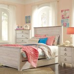 Willowton Full Size Panel Bed With Trundle B267 Ashley Kids Furniture Kids Teens Bedroom Furniture