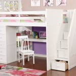 Multifunction Full Size Loft Bed With Desk In White Allen House Kids Loft Beds And Bunk Beds