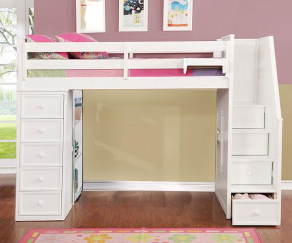 Multifunction Full Size Loft Bed In White Allen House