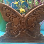 Butterfly Garden Vintage Wooden Napkin Holder Butterflymama