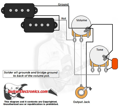 PBass Style Wiring Diagram