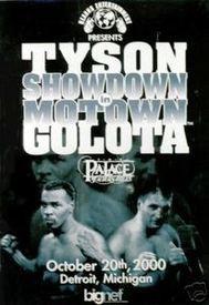 mike tyson vs andrew golota official fight poster from detroit