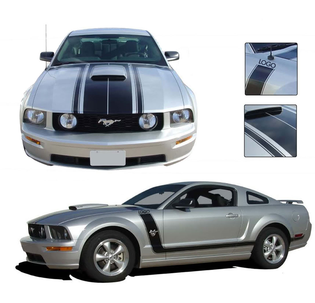 $999 (the price in this ad is the downpayment ) pic hide this posting restore restore this posting. Mustang Fastback 2 Boss Style 2005 2006 2007 2008 2009 Ford Mustang Hood Door Vinyl Graphics Kit Moproauto Professional Vinyl Graphics And Striping