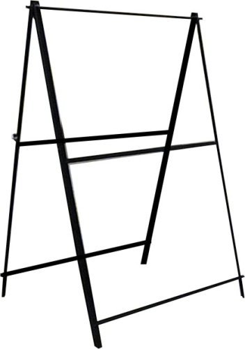 32 x 48 uneaque series insert top loading metal sign stand a frame made in the usa