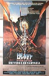 heavy metal original spanish style a folded 1 sheet movie poster