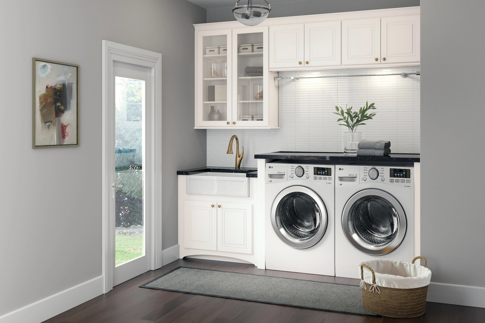 Cardell Kitchen Cabinets - Stubben in White Laundry Room on Laundry Room Cabinets  id=86356