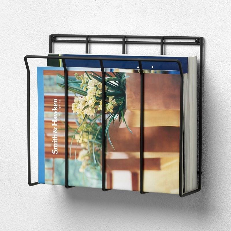 wall mount wire magazine rack