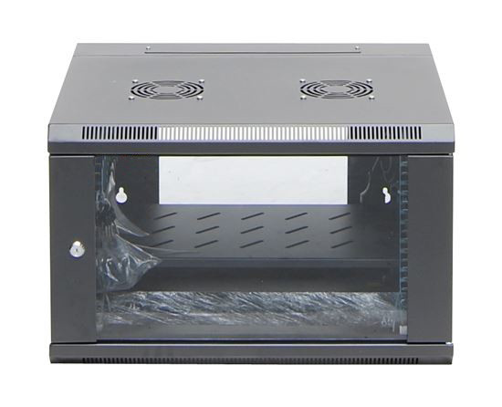 6ru wall mount server rack cabinet 450mm deep swing frame