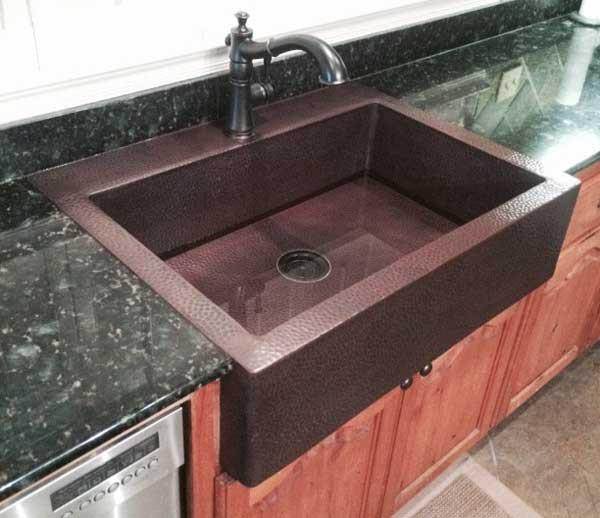 fha custom copper farmhouse sink