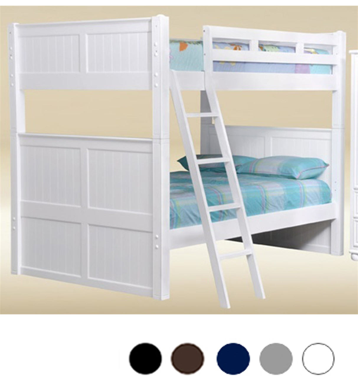 Dillon White Full Bunk Bed With Trundle
