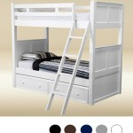 Dillon White Wood Twin Bunk Bed With Storage Drawers
