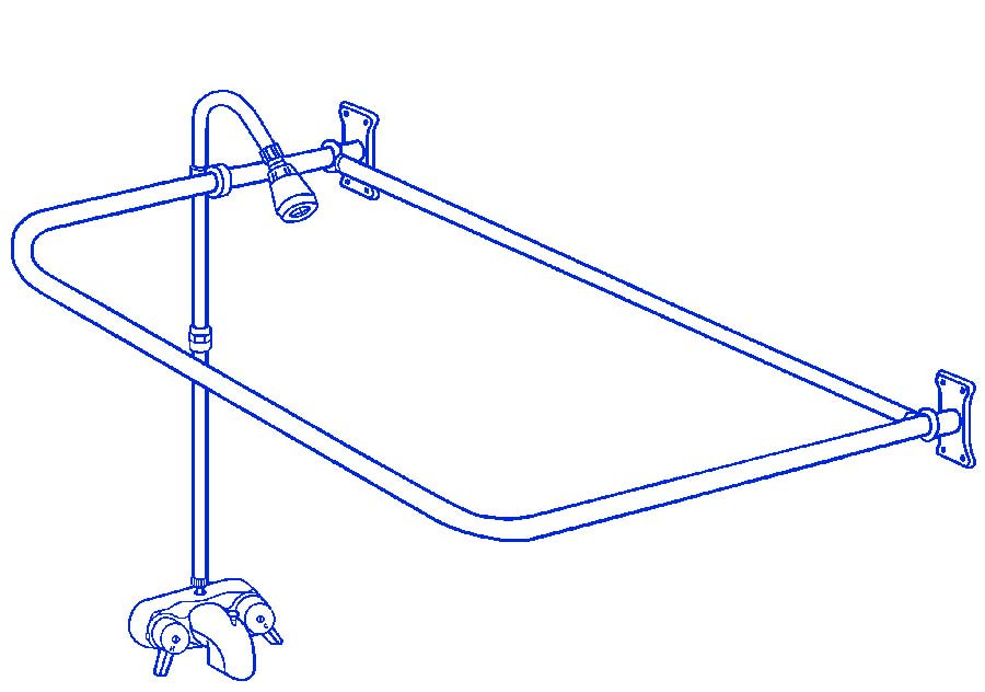 clawfoot tub add on shower includes 54 d shower rod rx2300a