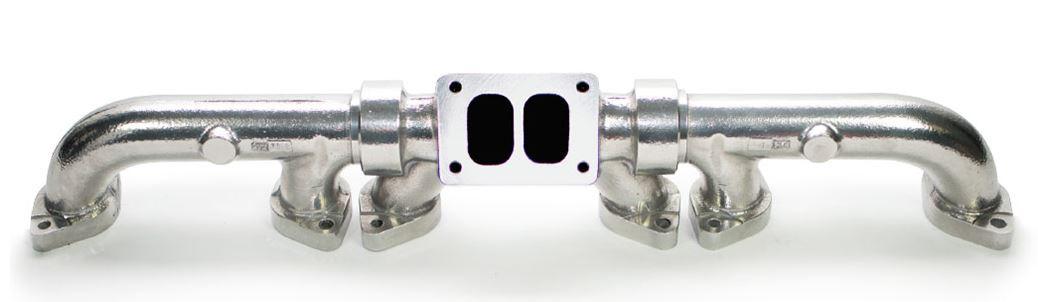 full tilt cat c12 ceramic coated exhaust manifold