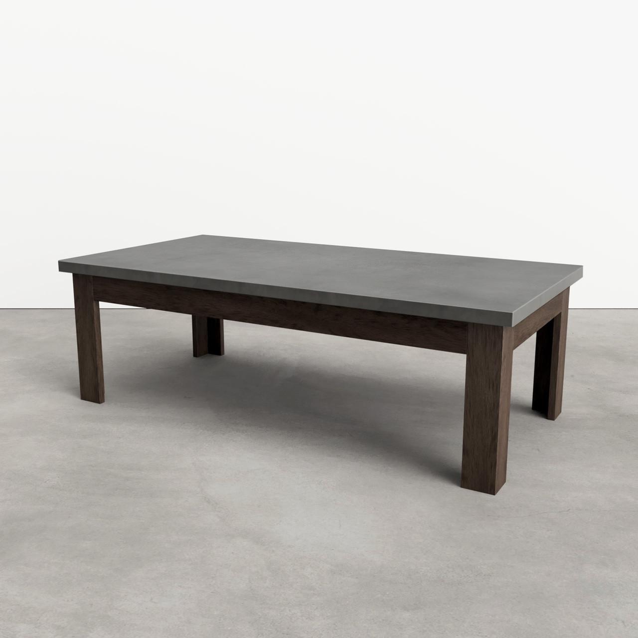 concrete coffee table rectangle