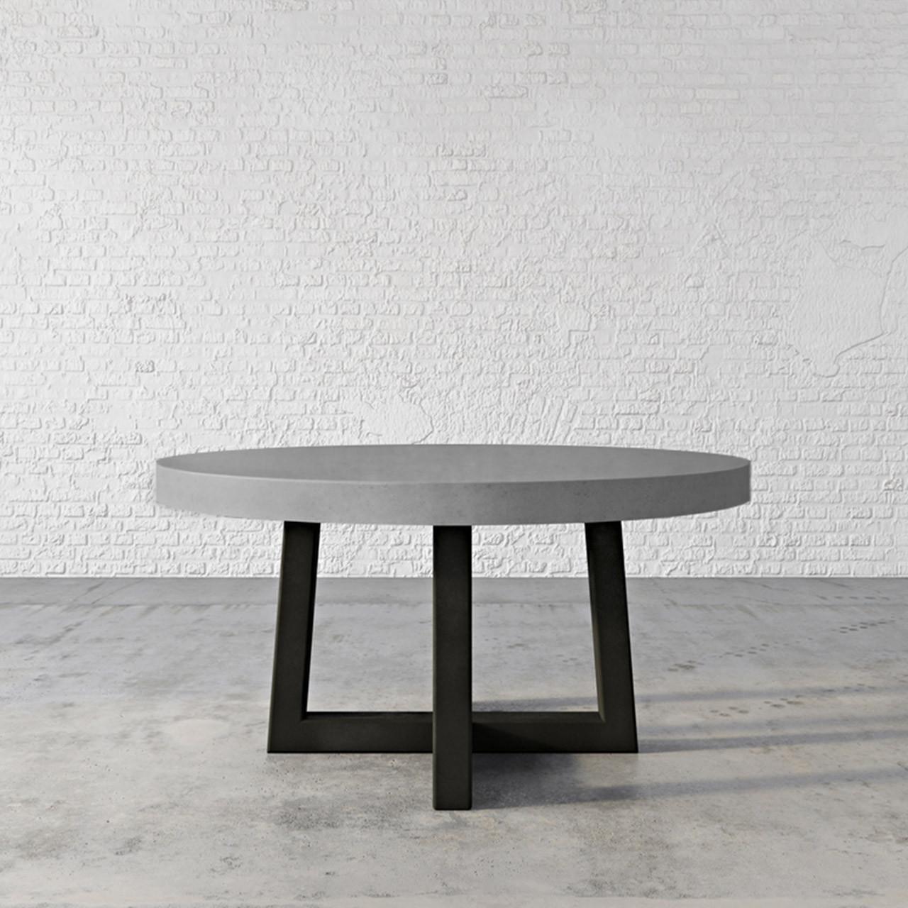 Custom Concrete Round Dining Table Trueform