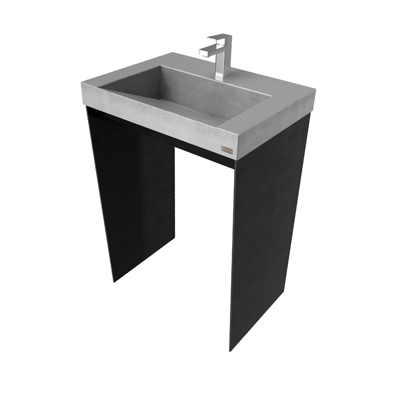 24 contempo vanity with concrete ramp sink
