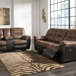 Ashley Follett Coffee Reclining Sofa Double Reclining Loveseat With Console