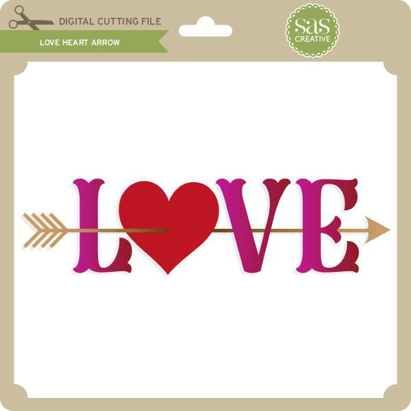 Download Love Heart Arrow - Lori Whitlock's SVG Shop