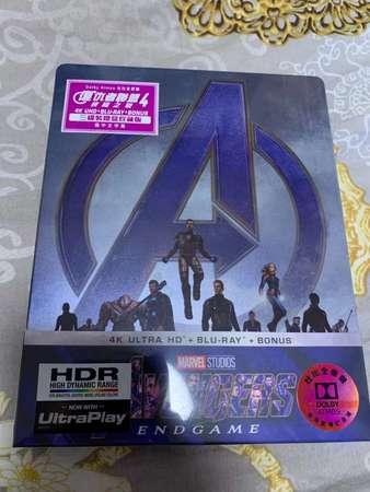 出售 全新 復仇者聯盟4 終局之戰 Avengers 4 Endgame 鐵盒版 4K 藍光 Blu-ray blu ray - DCFever.com