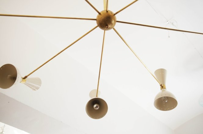 Large Brass Chandelier 1950s 14 7 332 00