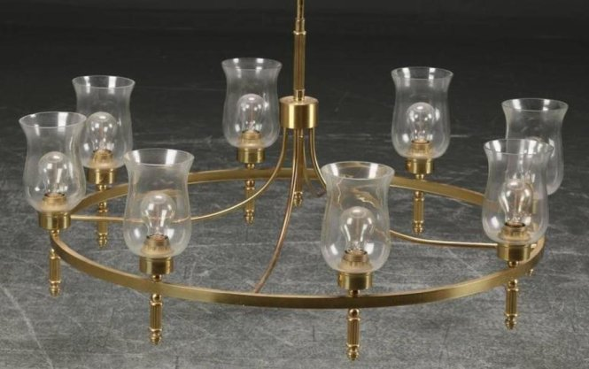 Large Brass Chandelier By Svend Mejlstrøm 1960s