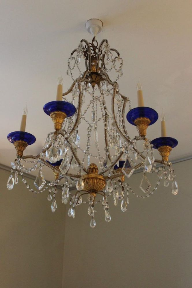 Italian Glass Chandelier 1930s