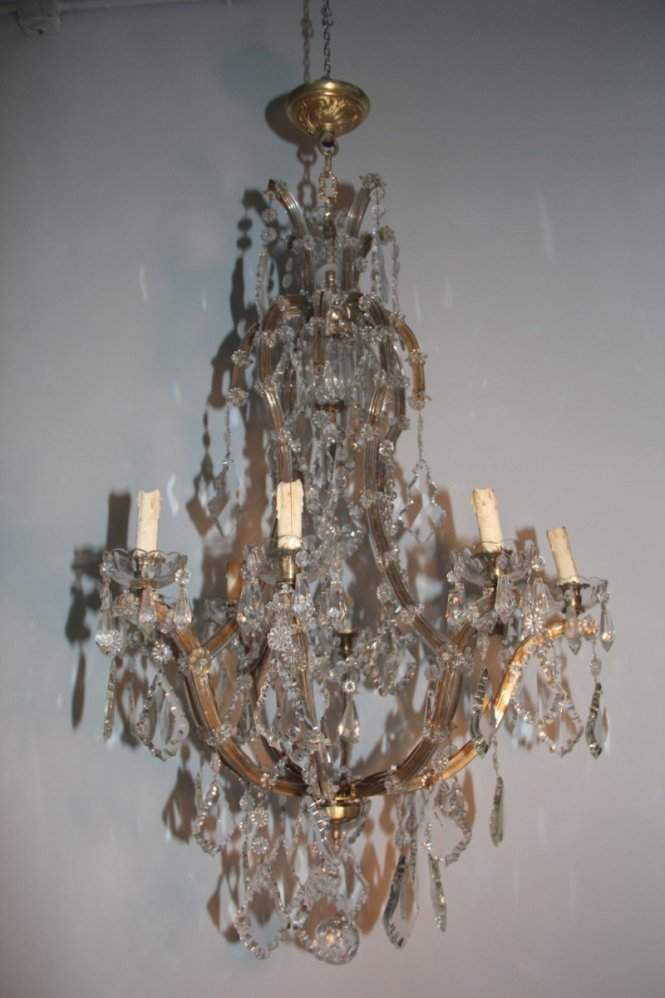 Large Italian Maria Theresa Chandelier 1920s