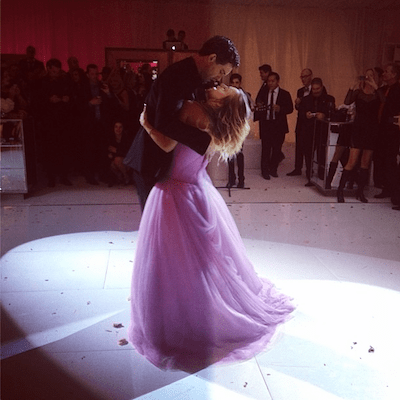 PHOTOS  Have You Seen Kaley Cuoco s Hanging Upside Down Wedding Cake     Photo via Kaley Cuoco Instagram