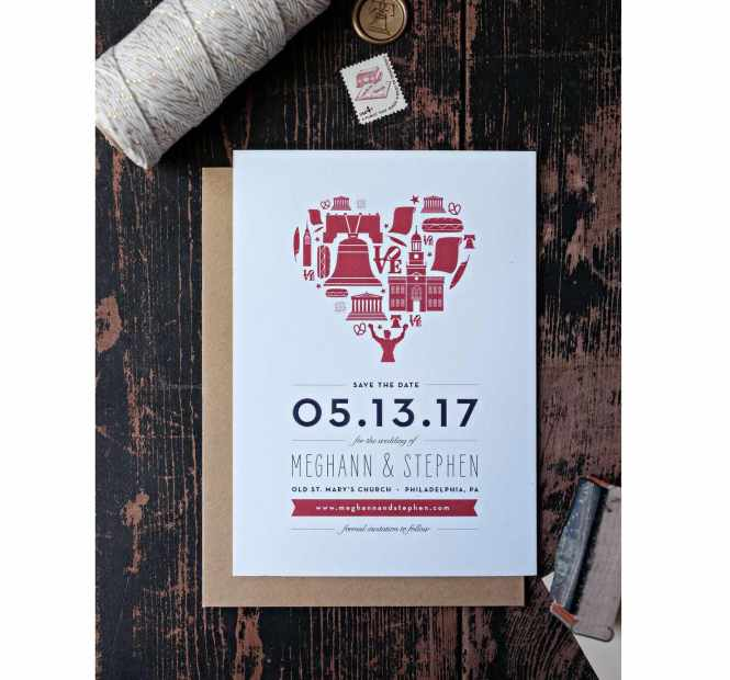 These Save The Dates For Your Wedding Are So Philadelphia