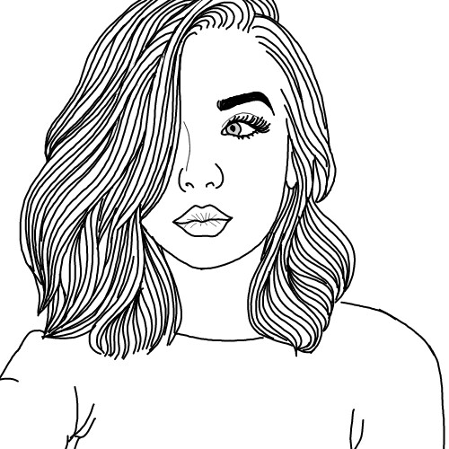 Kylie Jenner Tumblr Outline Drawing