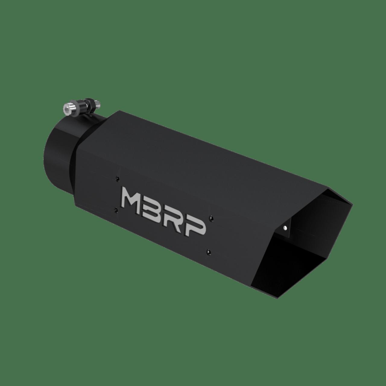 tip 5 hex tip 4 id inlet 16 length mbrp logo black coated