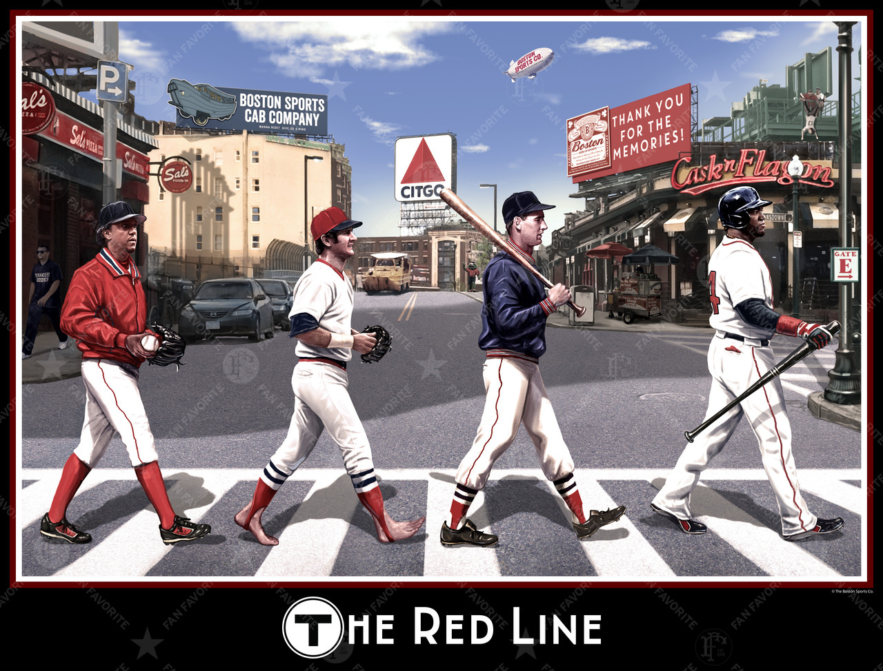 the red line wall print