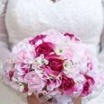 Hydrangea Rose Pink Artificial Wedding Bouquets Silk Wedding Flowers Bridesmaid Bouquets Large Thebridesbouquet Com