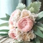 Blush Pink Peony Eucalyptus Wedding Bouquets Artificial Flowers Medium Thebridesbouquet Com