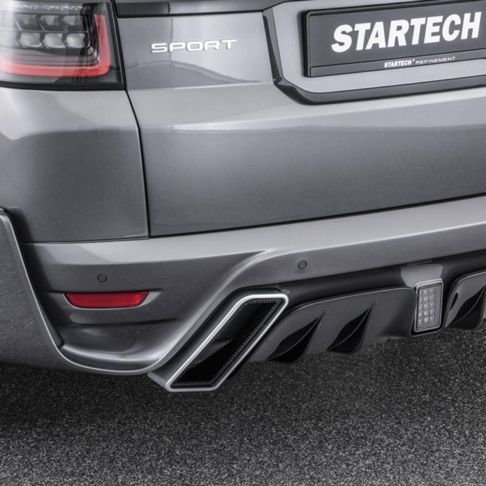 range rover sport 2018 startech rear bumper muffler tips