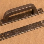 Cabinet Pull Back Plate With Craftsman Grid Detail Ponderosa Forge
