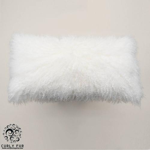 tibetan lamb fur pillows