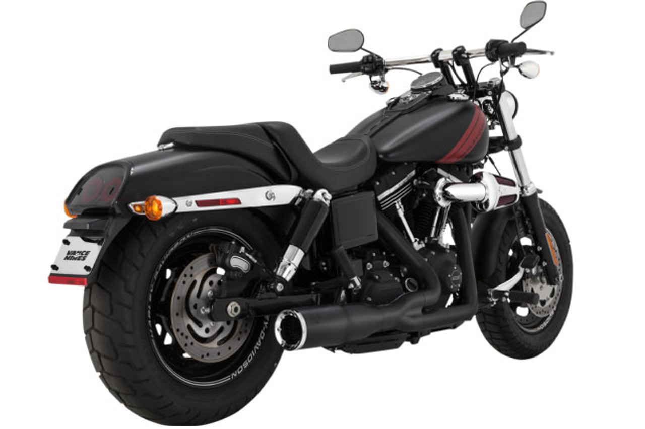 vance hines pro pipe short 2 into 1 exhaust for harley davidson dyna models 12 17 not for dyna switchback black
