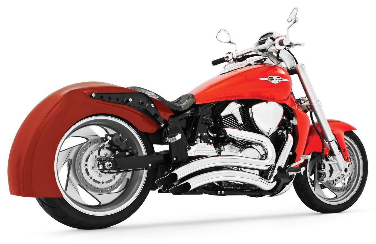 freedom performance sharp curve radius exhaust for 06 up m109r chrome