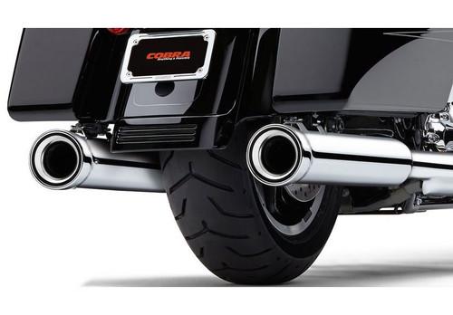 cobra 4 inch neighbor hater slip on mufflers for harley davidson touring models 17 up chrome