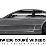 Bmw E46 Coupe Widebody Premium Vector Template Pixelsaurus