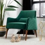 Allie Green Velvet Armchair Focus On Furniture