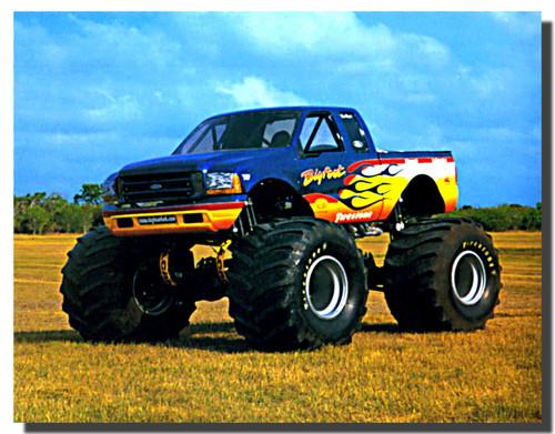 Bigfoot Monster Truck Racing Car Poster Monster Truck Posters Car Posters